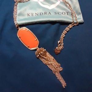 Kendra Scott necklace *ORANGE *